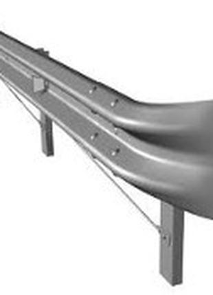 Огородження дорожні металеві бар'єрного типу