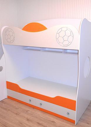 Двухъярусная кровать, шкаф, тумба и стол детские на заказ.
