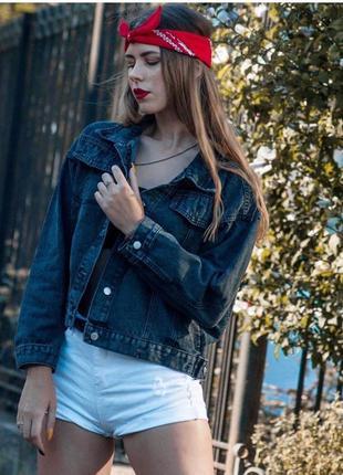 Очень стильная женская куртка джинсовая