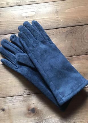 Женские замшевые перчатки сенсорные