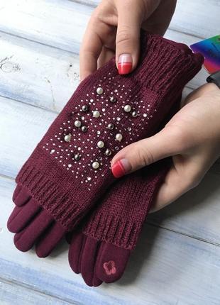 Женские перчатки + митенки сенсорные