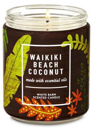 Ароматическая средняя свеча bath and body works waikiki beach ...