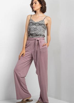 Трикотажные брюки палаццо с завышенной талией 🔥скидки до 15.08🔥
