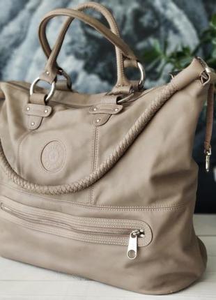 Kipling. большая сумка из натуральной кожи.