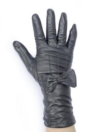 Женские кожаные перчатки длина  30см