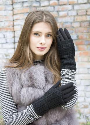 Женские стрейчевые перчатки митенки