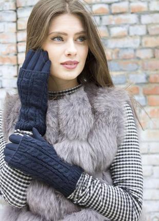 Женские стрейчевые перчатки + митенки