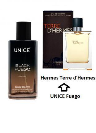 Мужская туалетная вода UNICE Fuego, 100 мл