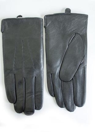 Кожаные мужские зимние перчатки