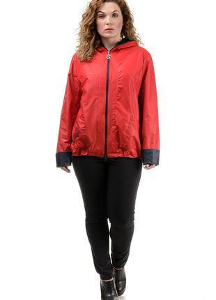 Ветровка красная большой размер 50-52-54-56-58-60 куртка дождевик
