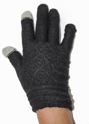 Женские вязаные перчатки сенсорные