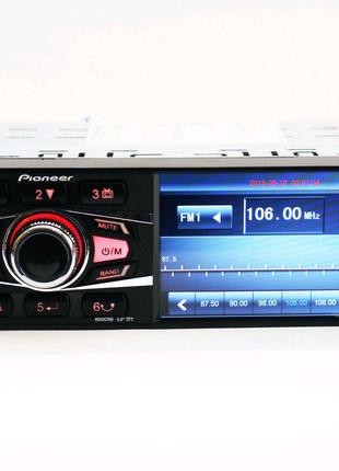 Автомагнитола Pioneer 4033 + пульт на руль / Bluetooth