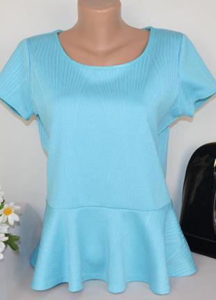 Брендовая голубая блуза баска debenhams великобритания