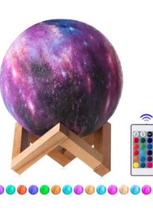 Настольный светильник 3D MOON LAMP Месяц 15 см Цветной