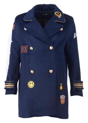 Стильное шерстяное пальто немецкого бренда maze. р.s