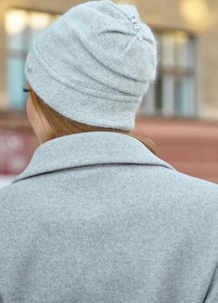 Теплая вязаная шапка «Маритим» Артикул 4918