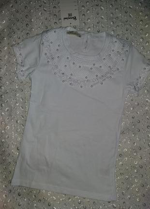 Нарядная футболка на девочку бенини