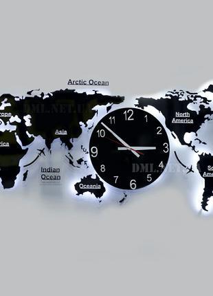 Часы в виде карты