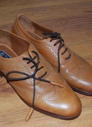 Кожаные туфли massimo dutti, 40