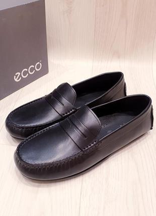 Ecco - кожаные мокасины мальчикам - 38, 40