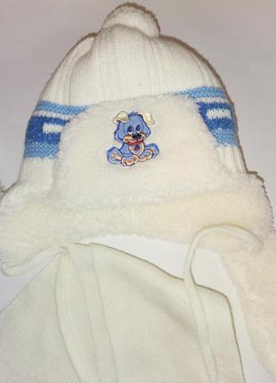 Набор зимний для мальчика шапка и шарф