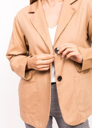 Классический женский пиджак коричневого цвета ❀