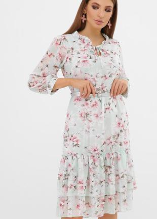 Мятное платье в окрас цветов ❀