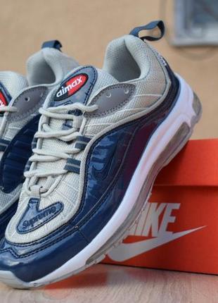 Модные кроссовки 💪 nike air max 98 supreme blue 💪