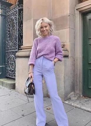 Элегантные брюки лавандового цвета