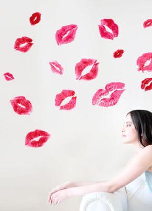 Набор декоративных стикеров - поцелуи