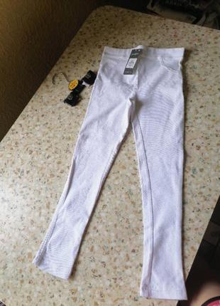 Белые джеггинсы примарк 116 см