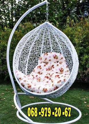 Кресло кокон подвесное Эмилия. Гамак для сада. Качеля садовая ЮМК