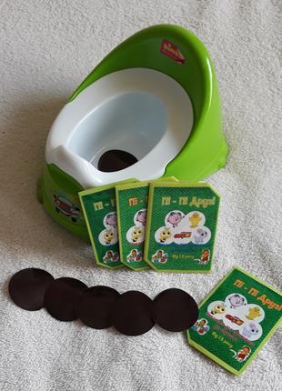 Обучающие наклейки для приучения ребенка к горшку и унитазу