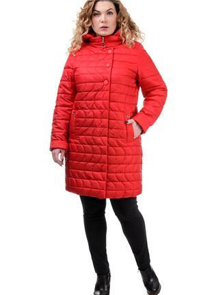 Куртка пуховик зимний большой размер 48-50-52-54-56-58 капюшон
