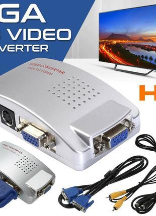Композитный видеоадаптер VGA TV AV RCA для ноутбука ПК PAL SECAM