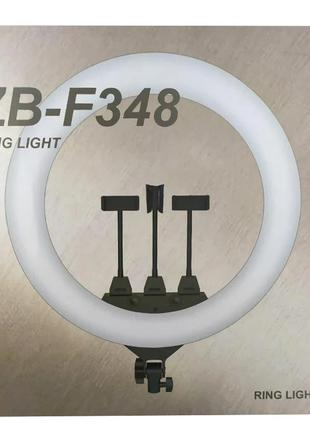 Кольцевая LED лампа RING LIGHT ZB-F348 диаметром 45см с пультом