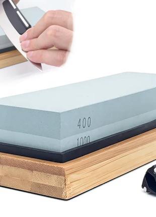 Набор для заточки ножей Primo Cook камень 400/1000 с подставкой