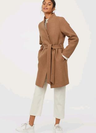 Шерстяное пальто hm итальянская шерсть