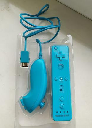 Контроллер с нунчаком пульт wii remote controller + nunchuk