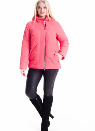 Размер 46-66 стильная демисезонная куртка со съемным капюшоном