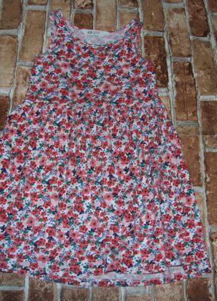 Платье хлопковый сарафан девочке 6 - 8 лет h&m