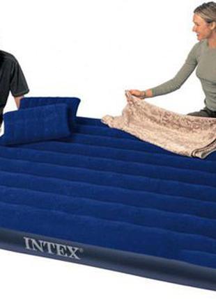 Надувные матрасы Intex / подушка / насосы интекс комплекты/велюр