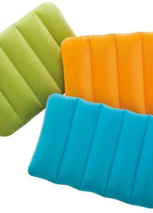 Надувная дорожная подушка, подголовник, под шею, под голову INTEX