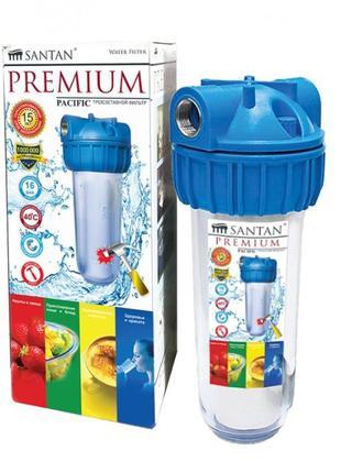 """Фильтр для очистки воды SANTAN Pacific 3PS, 3/4"""" (корпус+сетка..."""