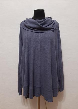 Стильный модный мягенький теплый джемпер большого размера