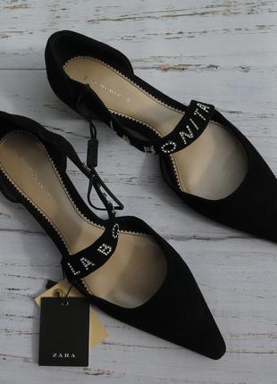 100% кожа новые женские босоножки zara 39 мюли zara 39 сандали...