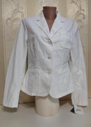Белоснежный котоновый пиджак, ralf lauren