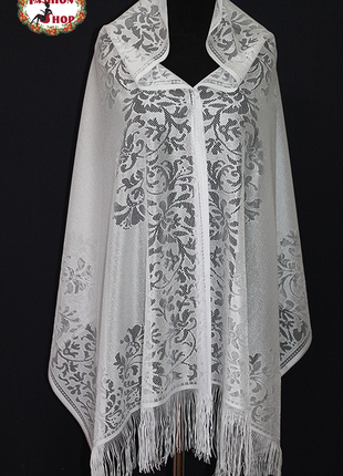 Свадебный шарф ариана(серый) 1066.1
