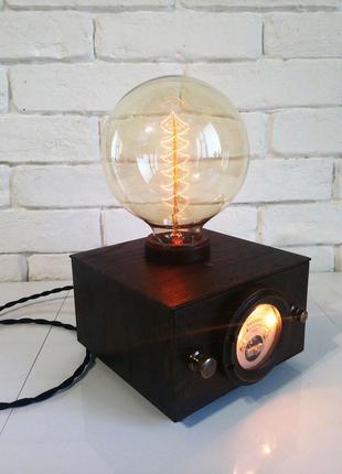 Настольная лампа-ночник с лампой Эдисона Куб-Voltmeter