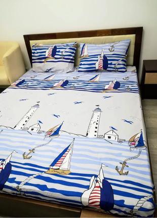 Морская тематика! Красивый, оригинальный постельный комплект!